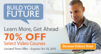 Save 70% on Select Videos from Que Publishing