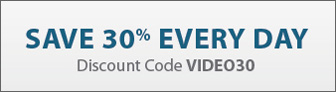 Save 35% every day with discount code VIDEO30