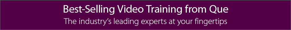 Best-Selling Video Training from Que Publishing