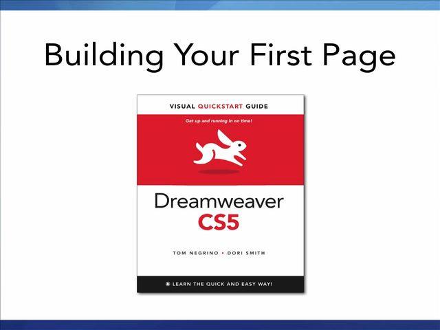 Dreamweaver CS5: Video QuickStart Guide, Online Video