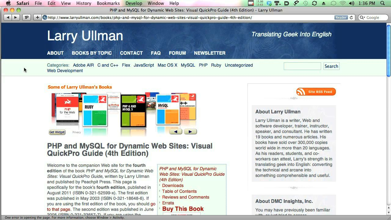PHP and MySQL for Dynamic Web Sites: Video QuickStart Guide, 4th Edition