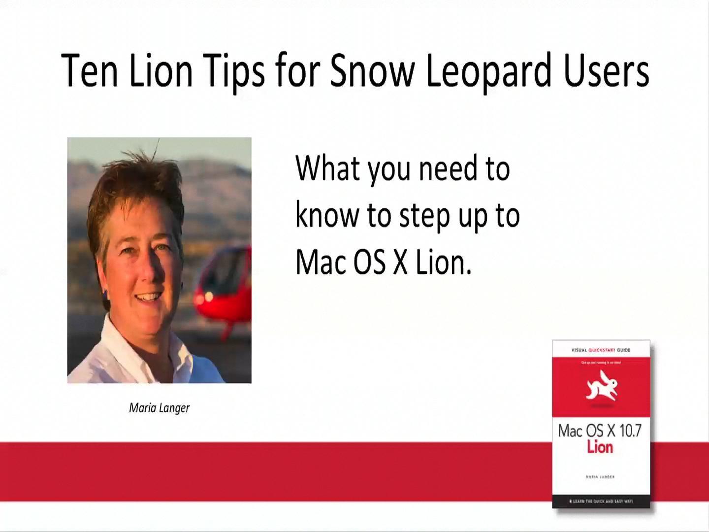 Mac OS X Lion: Video QuickStart