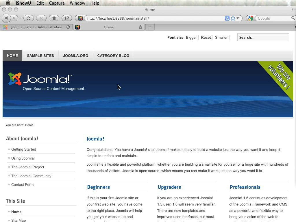 Joomla!: Video QuickStart