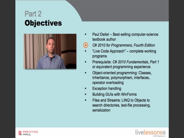 C# 2010 Fundamentals I, II, and III LiveLessons (Video Training): Part II, Complete Downloadable Version
