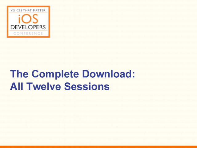 Voices That Matter: iOS Developers Conference: Fall 2011, Complete Download