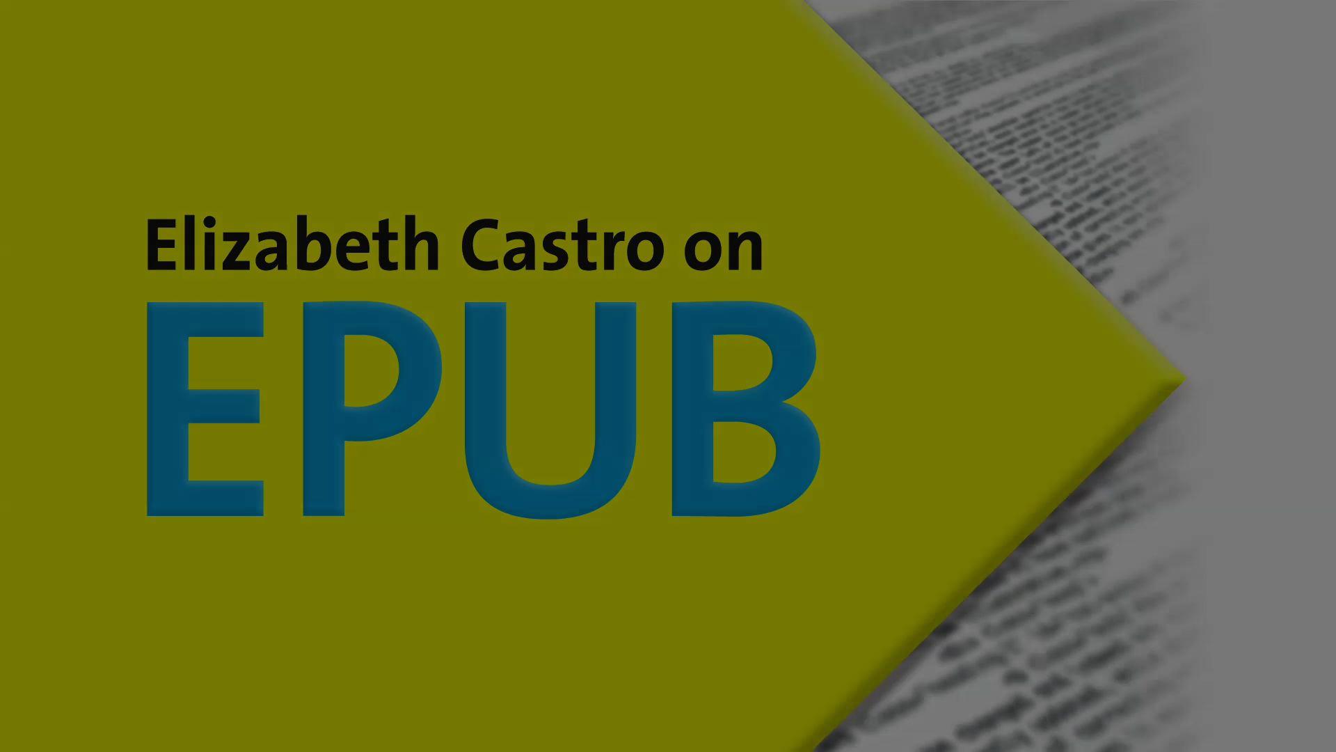 Elizabeth Castro on EPUB