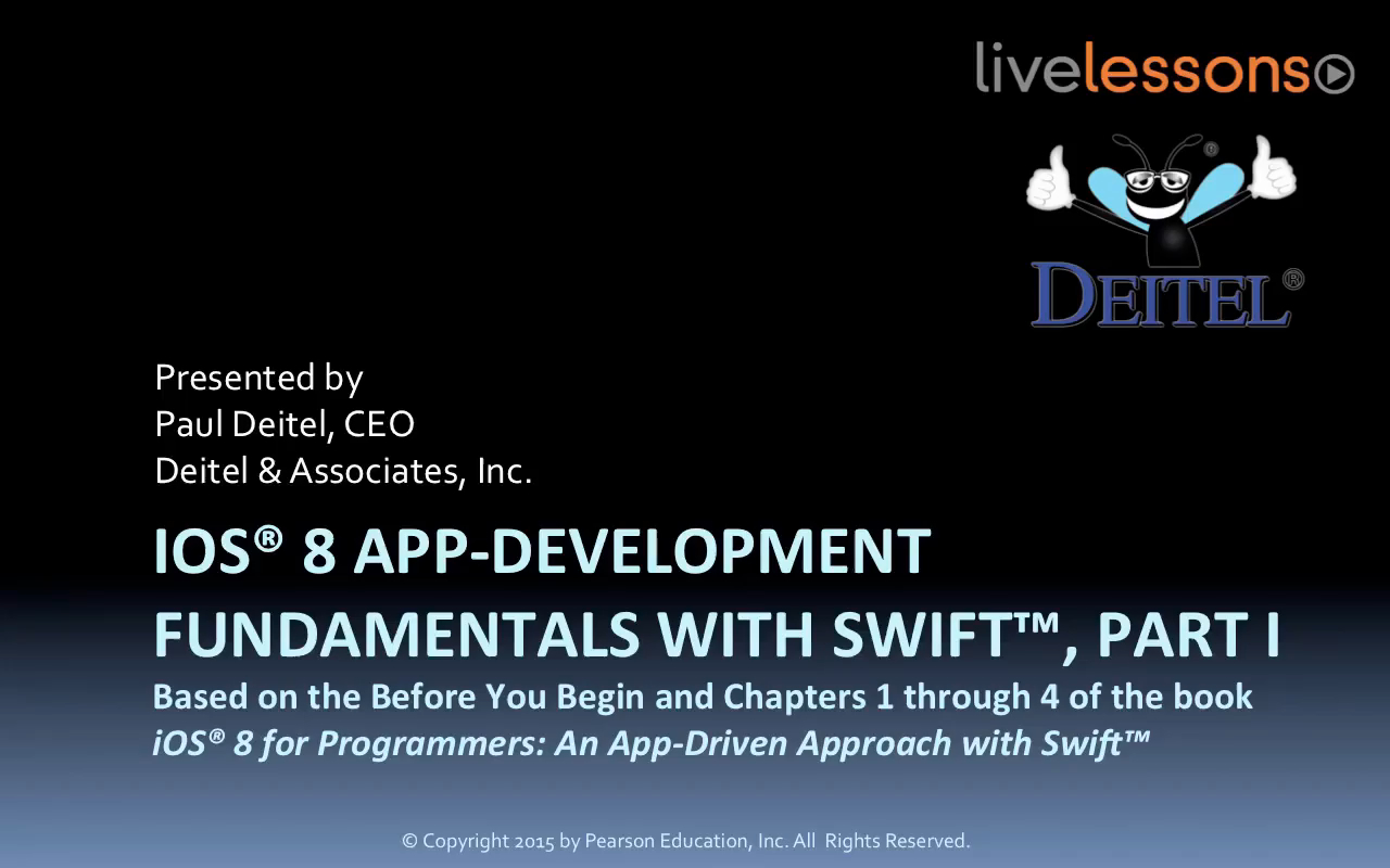 iOS 8 App Development Fundamentals with Swift LiveLessons I and II (Video Training) Downloadable Version, 2nd Edition
