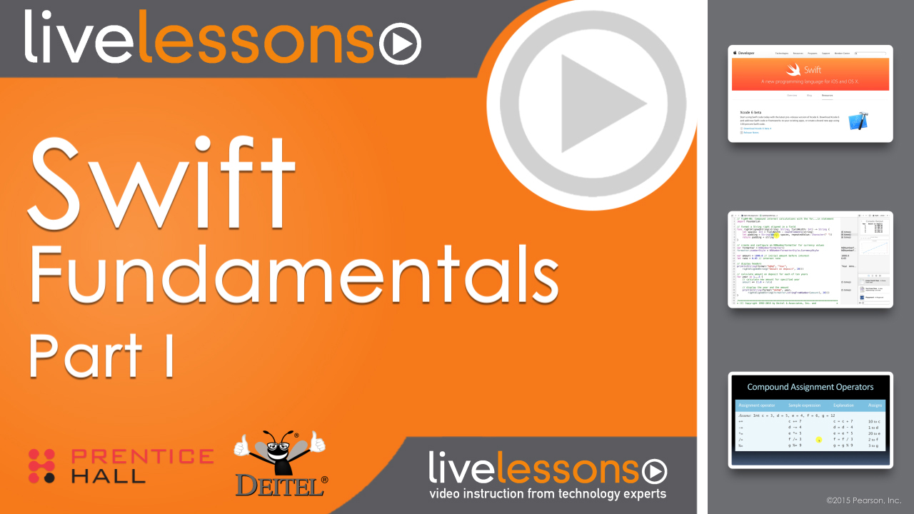 Swift Fundamentals LiveLessons: Part I of II (Video Training)