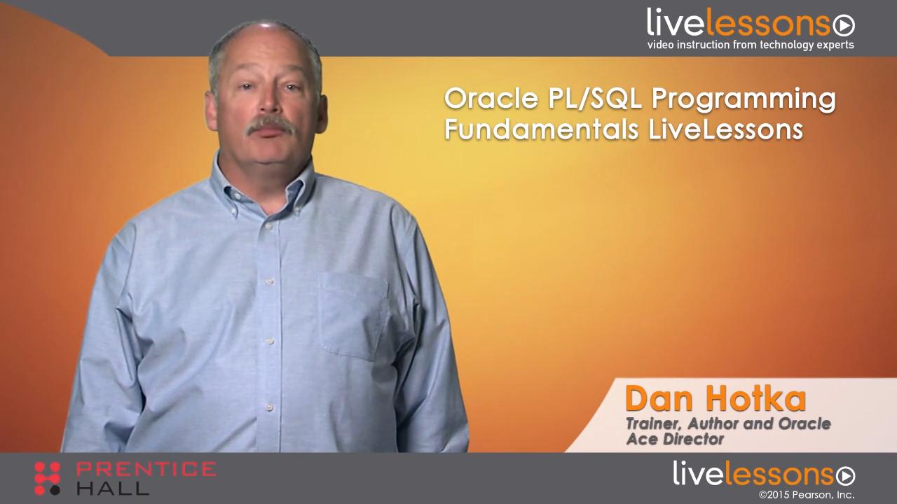 Oracle PL/SQL Programming Fundamentals LiveLessons