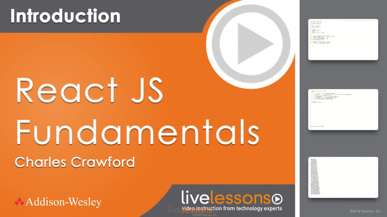 ReactJS Fundamentals LiveLessons (Video Training), 2nd Edition