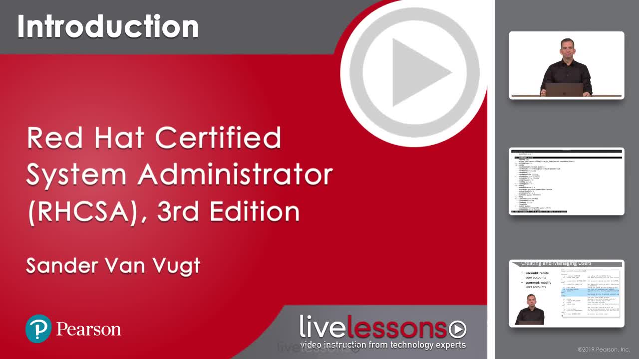 Red Hat Certified System Administrator (RHCSA) RHEL 8 Complete Video Course, 3rd Edition
