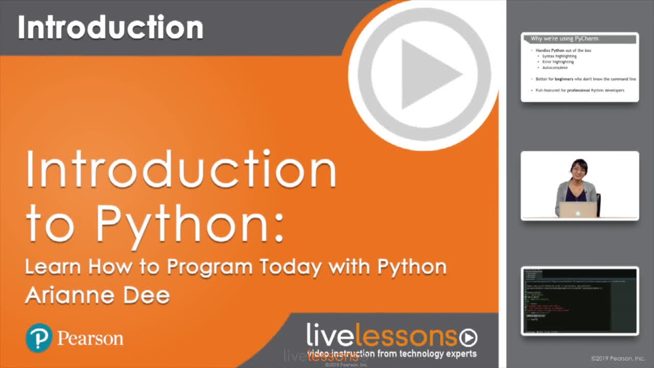 Introduction to Python LiveLessons: Learn How to Program Today with Python