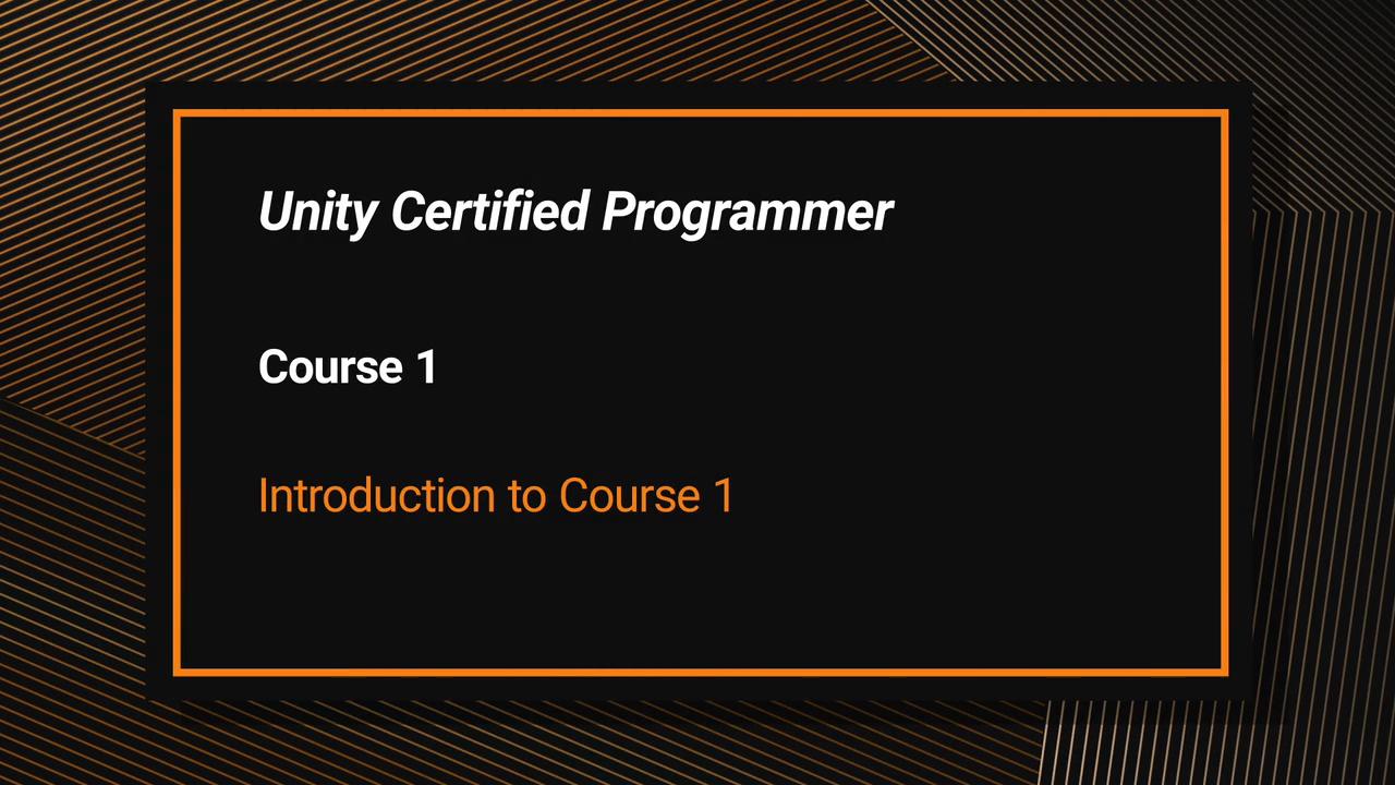 Unity Certified Programmer Exam Courseware (Video Training)