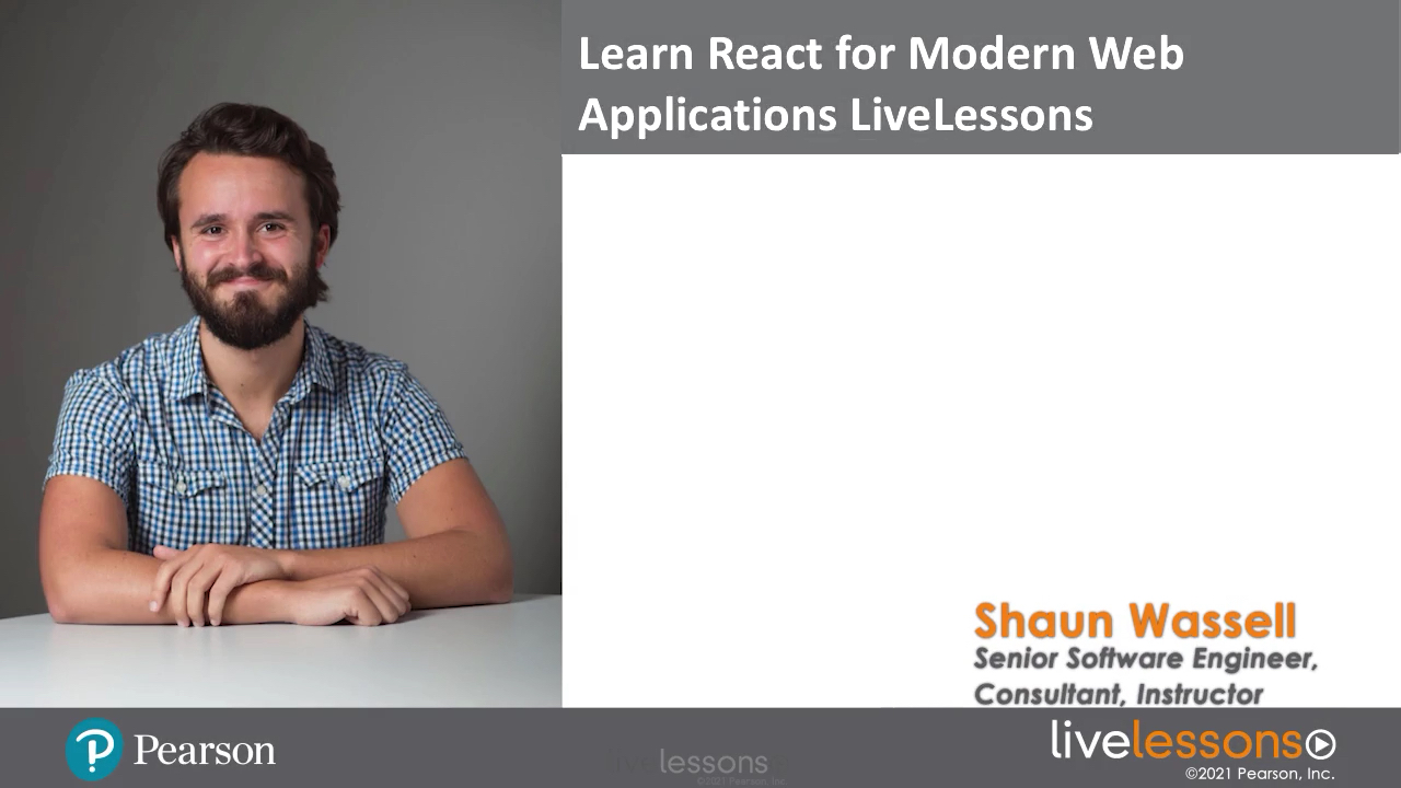 Learn React for Modern Web Applications LiveLessons (Video Training)