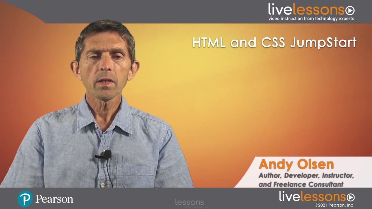 HTML & CSS JumpStart LiveLessons (Video Training)