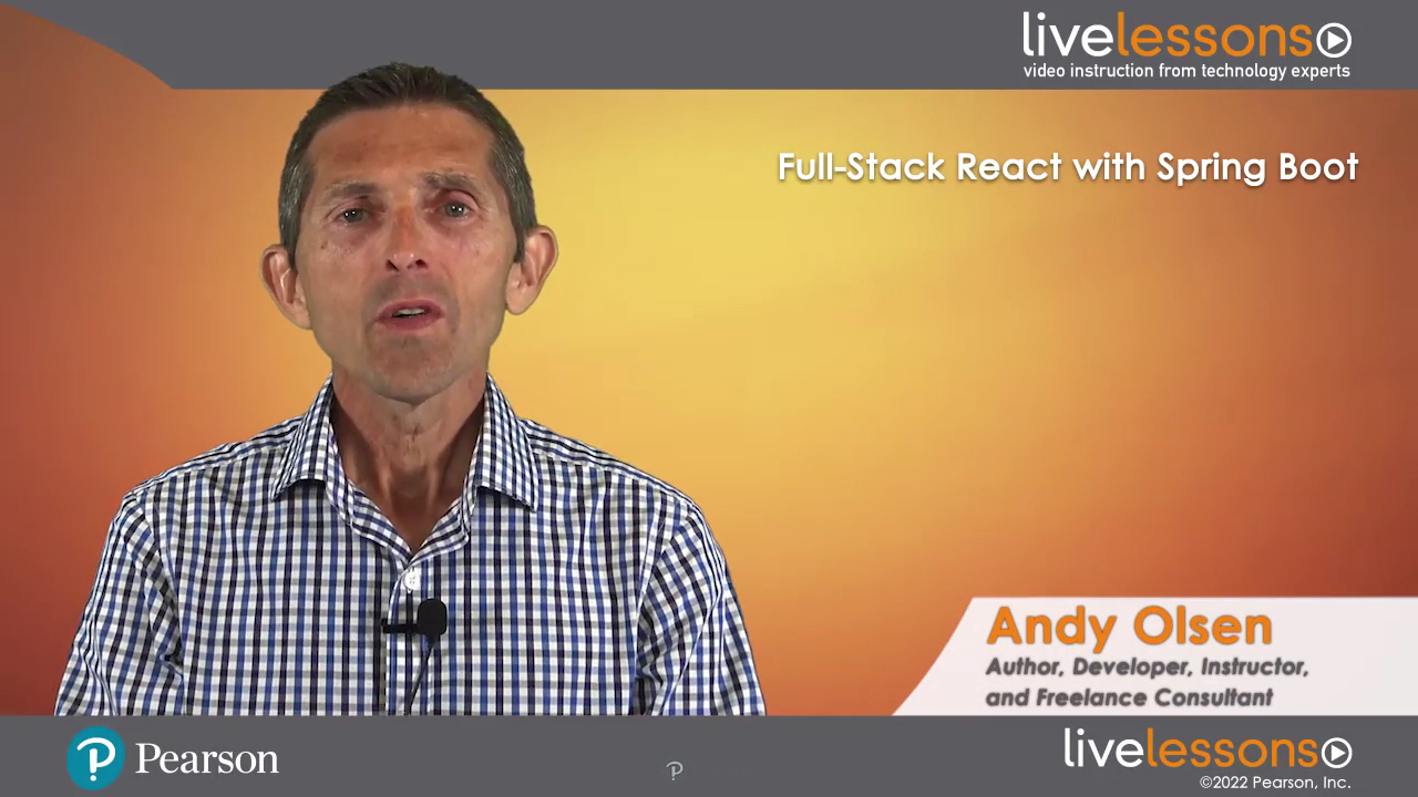 Full-Stack React with Spring Boot LiveLessons (video training)