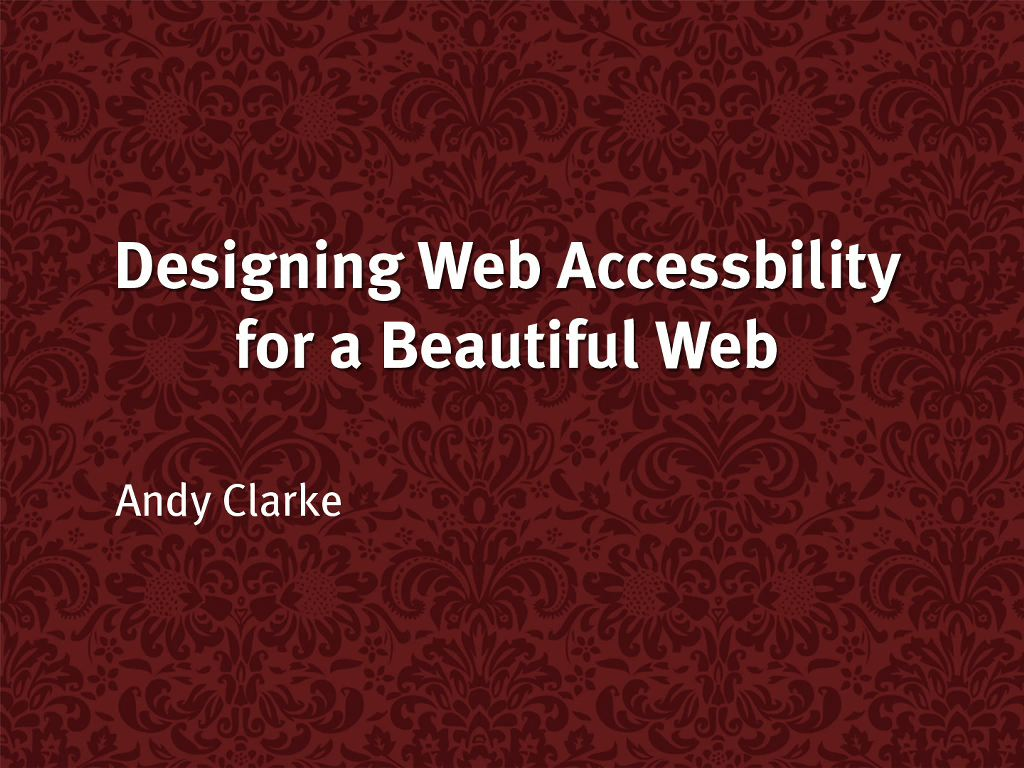 Designing Web Accessibility for a Beautiful Web, DVD