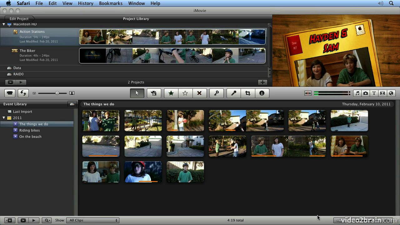 Make Your First Video with iMovie 11: Learn by Video