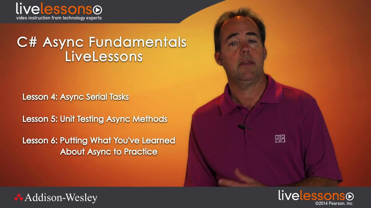 C# Async Fundamentals LiveLessons (Video Training), Downloadable