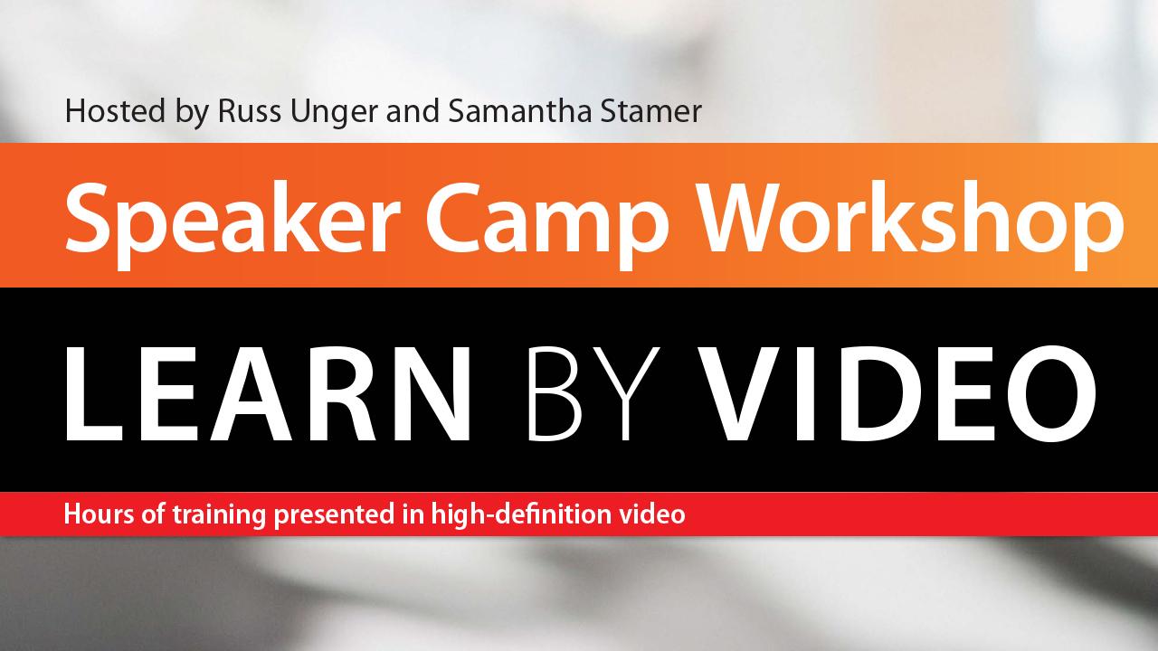 Speaker Camp Workshop: Learn by Video