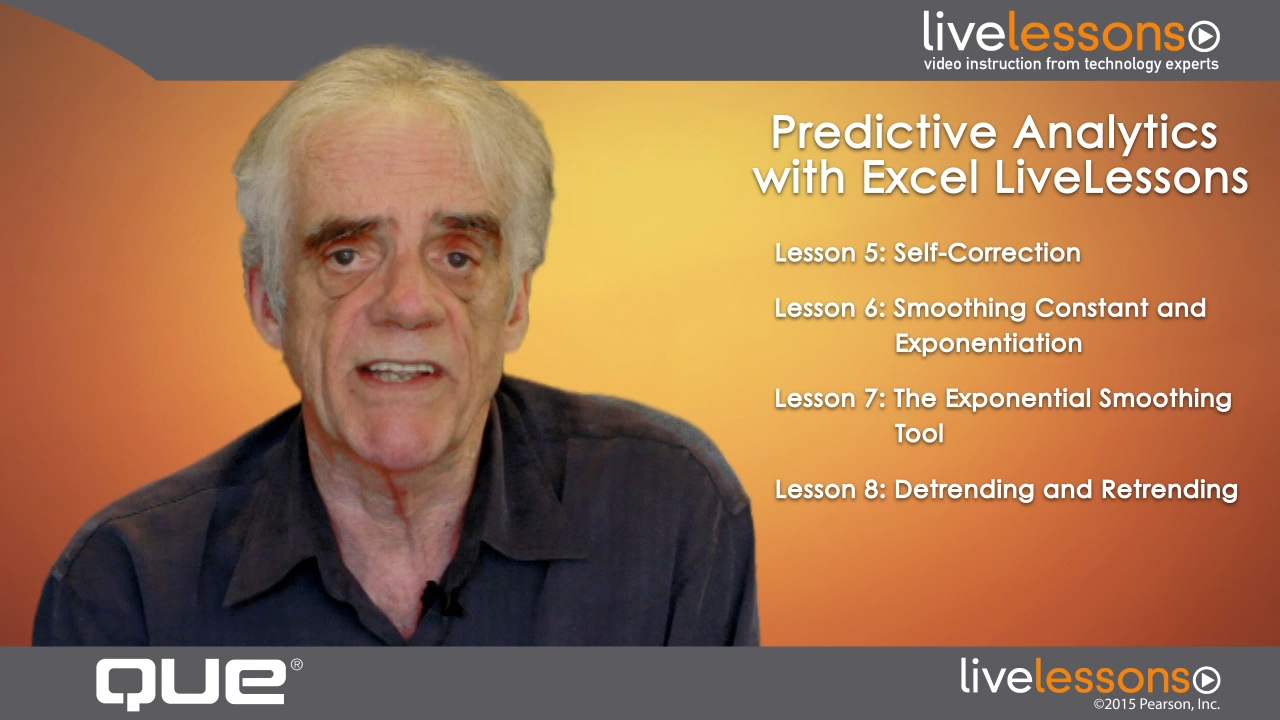 Predictive Analytics with Excel LiveLessons (Video Training), Downloadable Video: Exponential Smoothing and Autoregression