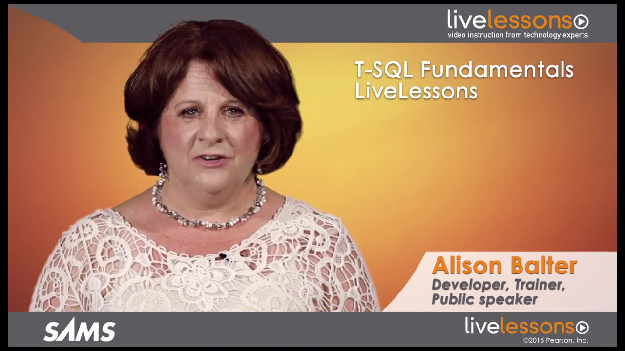 T-SQL Fundamentals LiveLessons (Video Training), Downloadable Video