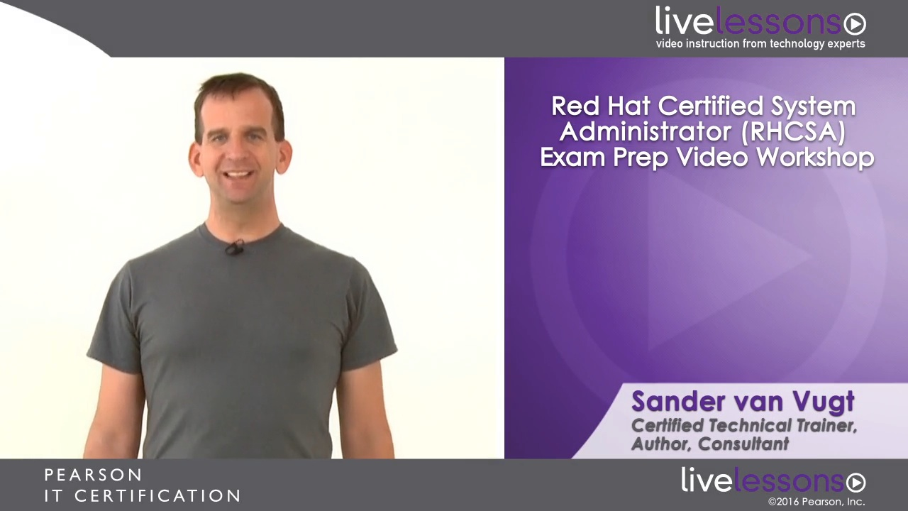 Red Hat Certified System Administrator (RHCSA) Exam Prep Video Workshop (Streaming)
