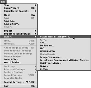 Part Three: Exporting a Movie as an SWF File | Getting in