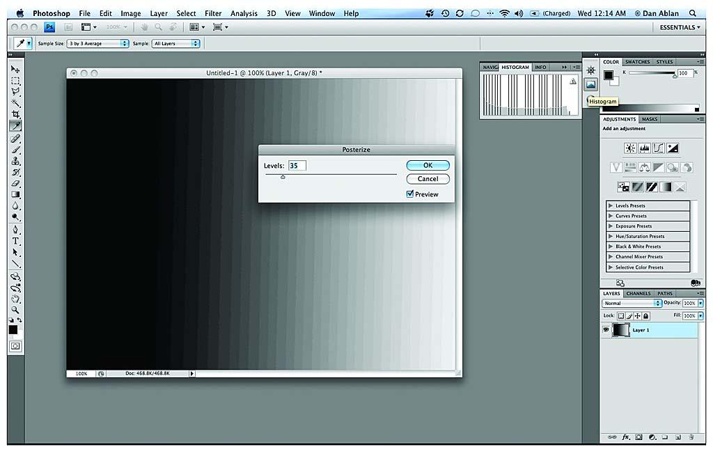 Avoiding Posterization > Using the Adobe Photoshop CS4