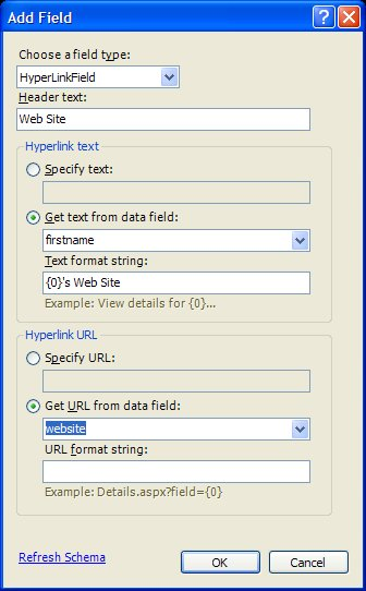 Making a URL Clickable in an ASP NET GridView | Formatting Fields in
