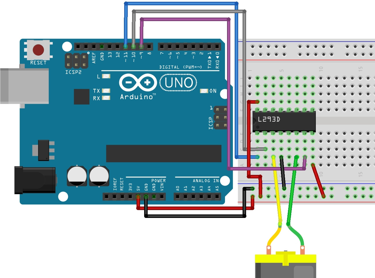 Example Circuit Power Up Your Robots With An L293d Chip Informit