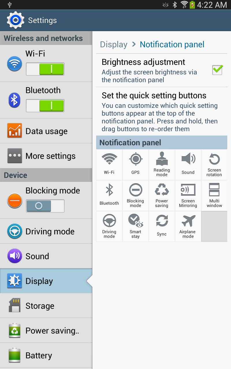 Changing Your Samsung Galaxy Tab 3 Display Settings | | InformIT