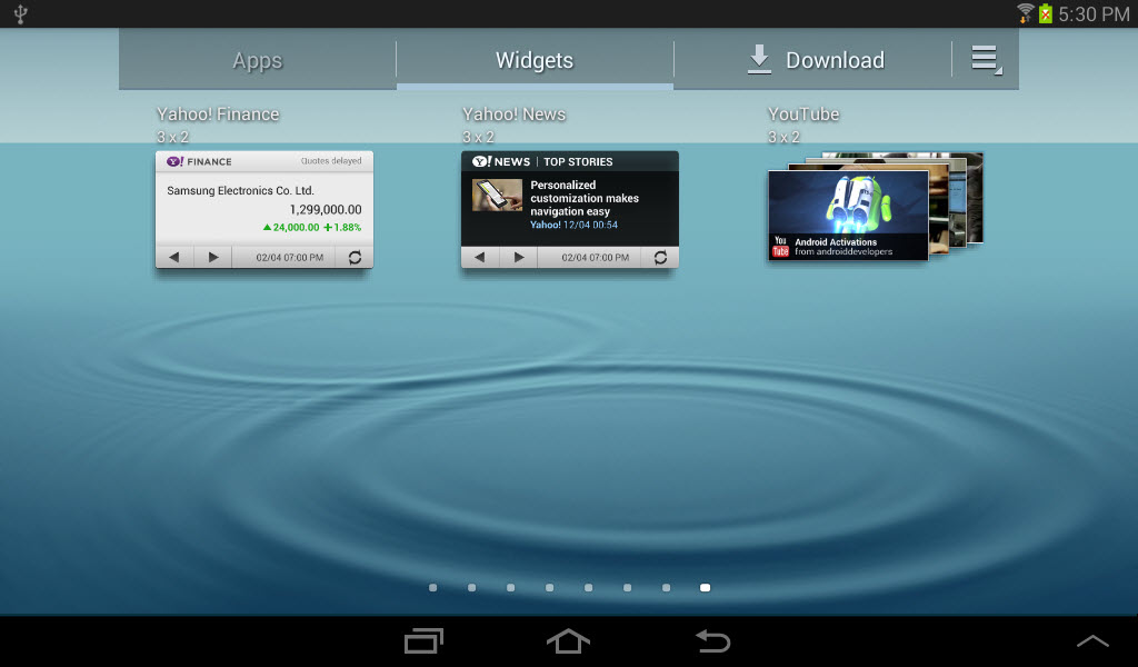 Explore Widgets in Jelly Bean on the Galaxy Tab 2: Part I | | InformIT