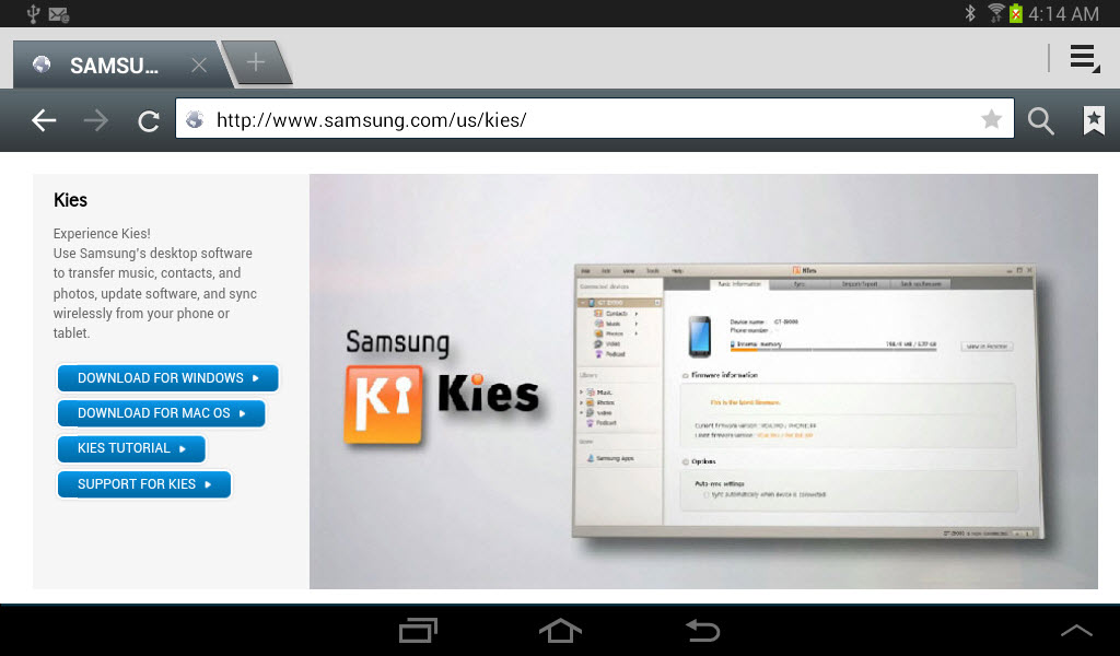 Sync Your Galaxy Tab 2 with Your PC | | InformIT