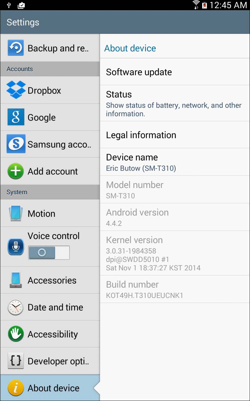Upgrading to Android 4 4 (KitKat) on the Galaxy Tab 3 | Upgrading to