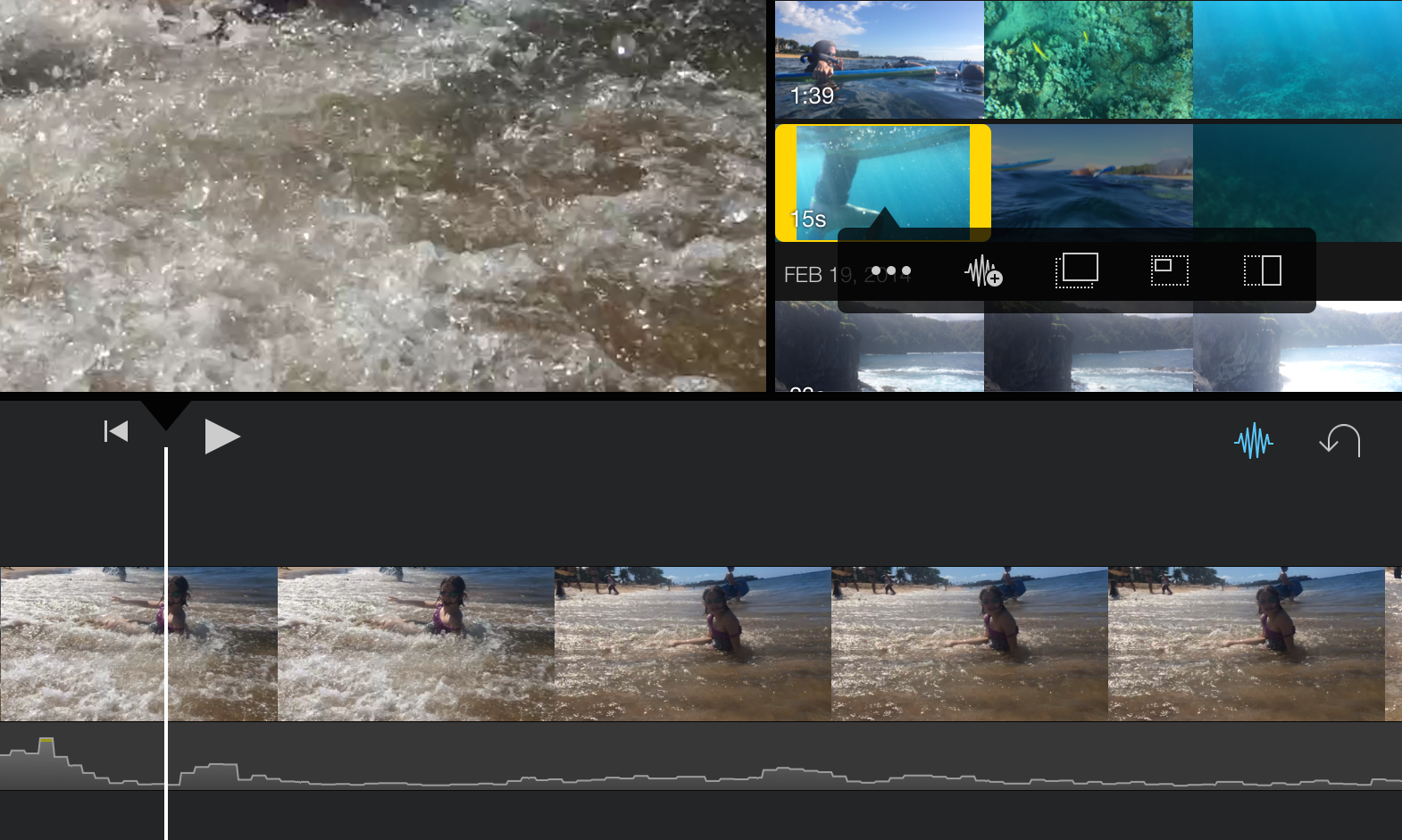 can you crop a video in imovie iphone