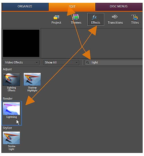 Step 5: Adding and Adjusting the Lightning Effect | Creating a