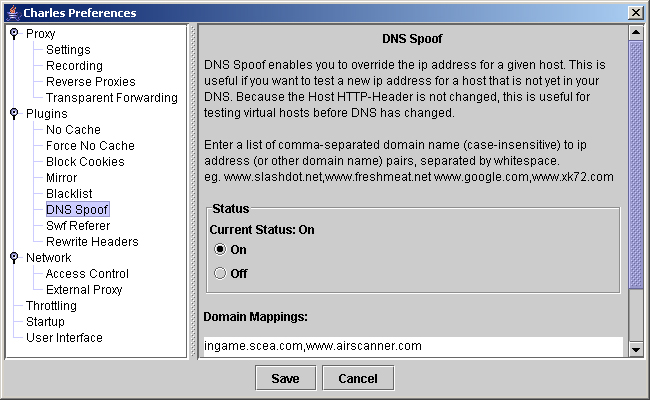 Configuring Charles for DNS Spoofing | Web Browsing on the PSP
