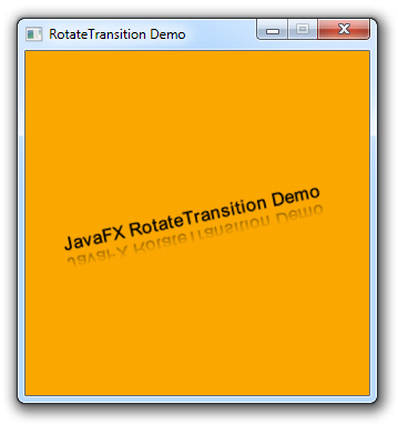 Using Transitions to Simplify JavaFX Animations | Basic Transitions