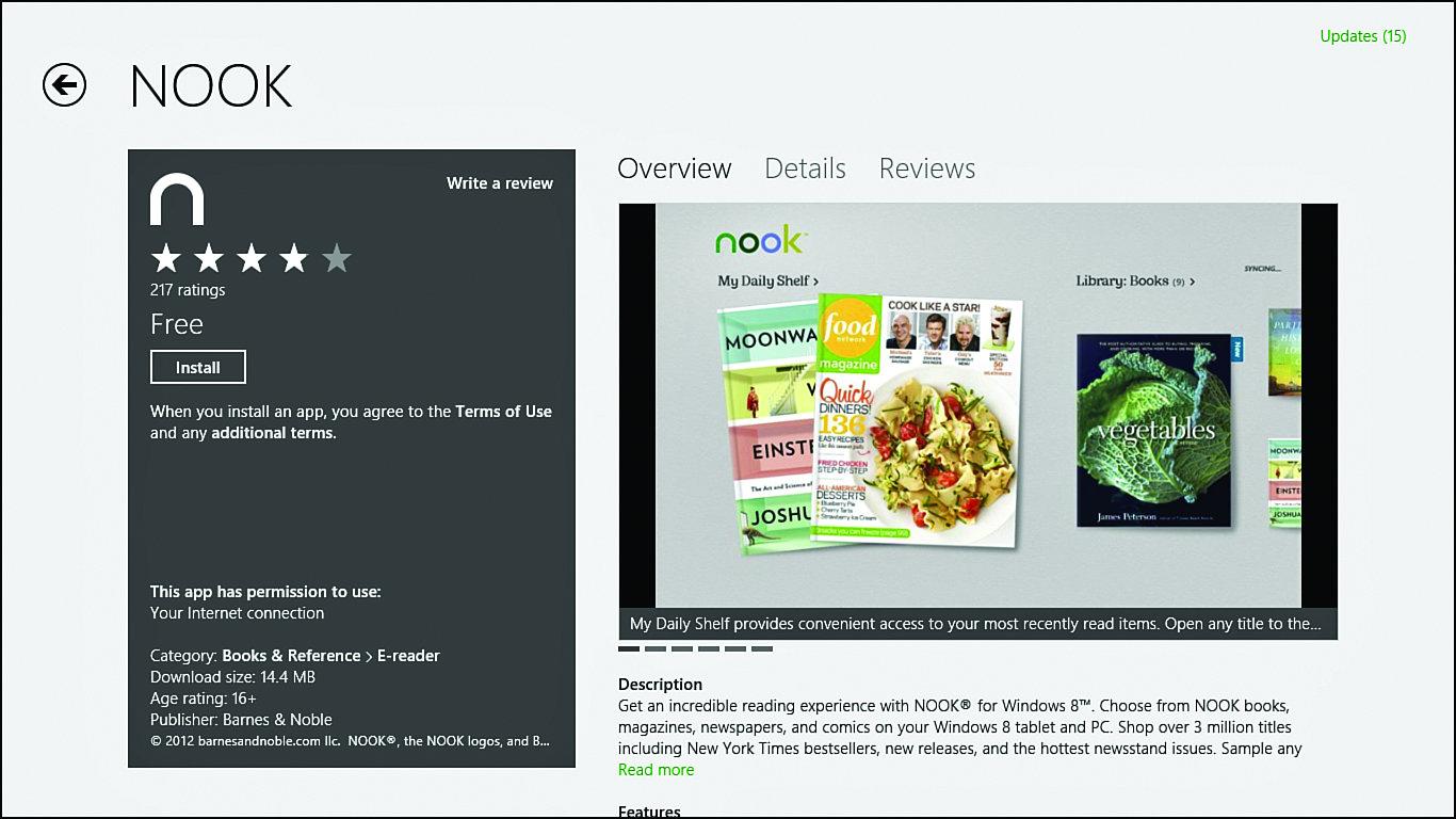 Using the NOOK App for Windows 8 | | InformIT