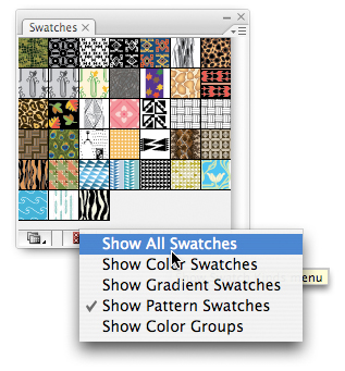 Creating and Saving a Custom Swatches Library > Mastering