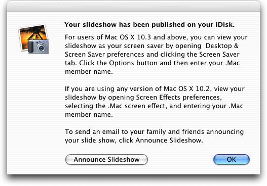 Publishing as a  Mac Slide Show | Publishing Your Photos on