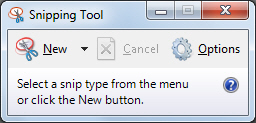Capturing All or Part of the Screen with the Snipping Tool