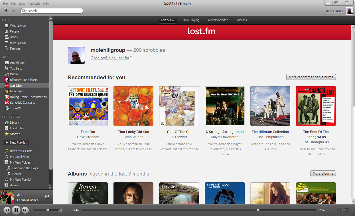 Five Top Apps for Spotify | Last fm | InformIT
