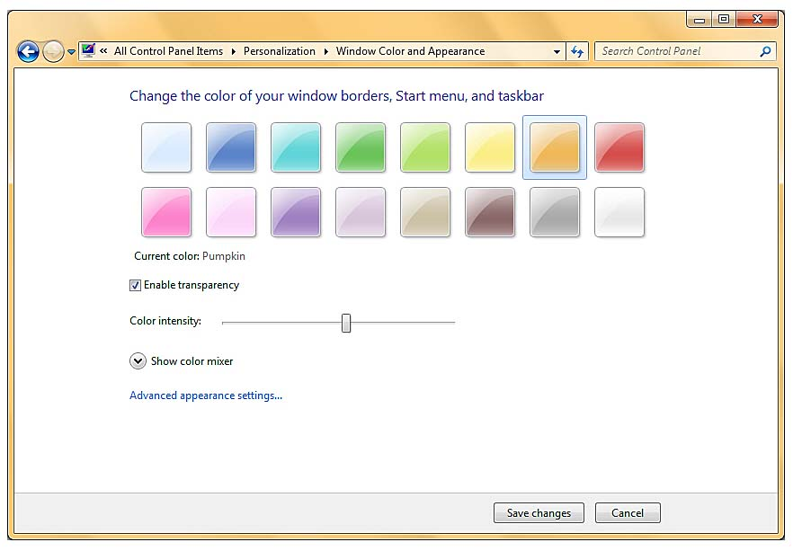 Changing The Color Scheme Personalizing Your Windows 7 Desktop With Themes And Slideshows Informit