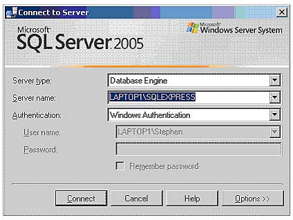 how to find instance name in sql server management studio