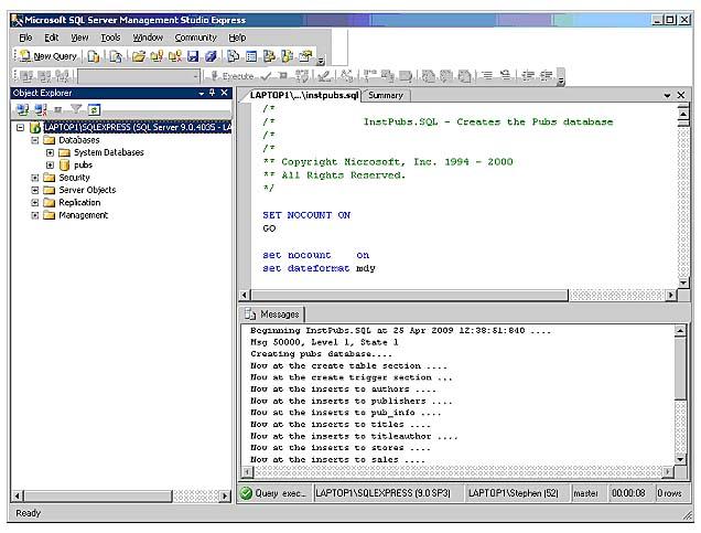 Starting SQL Server Management Studio Express | Database