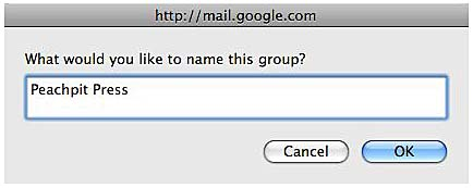 how to change group name in gmail