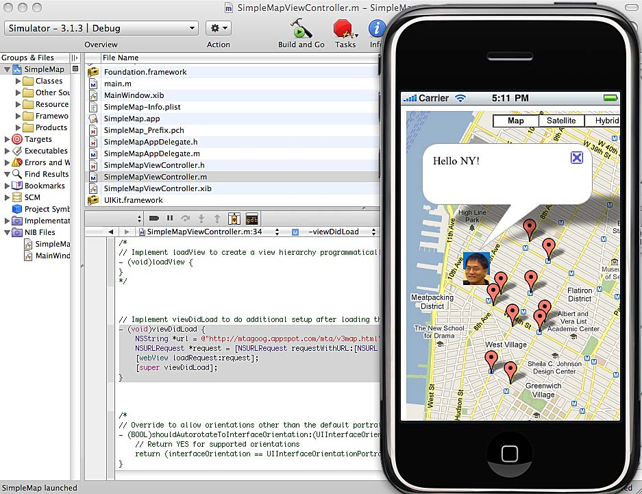 Running the Mobile Map Apps in Emulators of Eclipse and Xcode