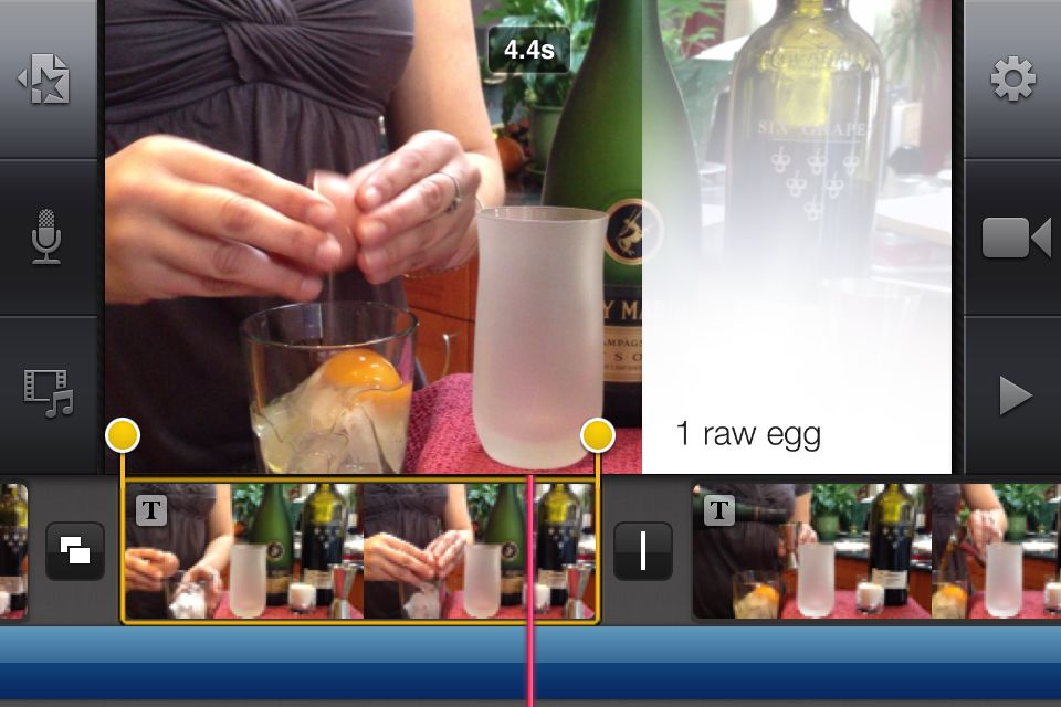 how to cut clips in imovie on iphone